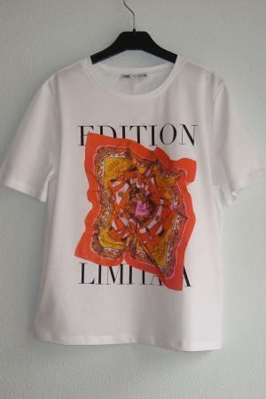 Трендовая женская футболка от Зарa (Испания) - Зара ZR0946-cl-S