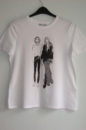 Модные женские футболки от Зара (Испания) - Зара ZR0948-сl-S