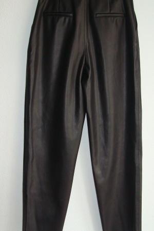 Женские кожаные брюки с ремнем от Зара (Испания) - Зара ZR0982-cl-S #2